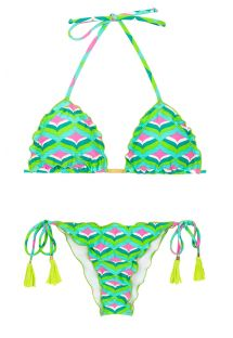 Bikini scrunch stampa grafica - MERMAID FRUFRU