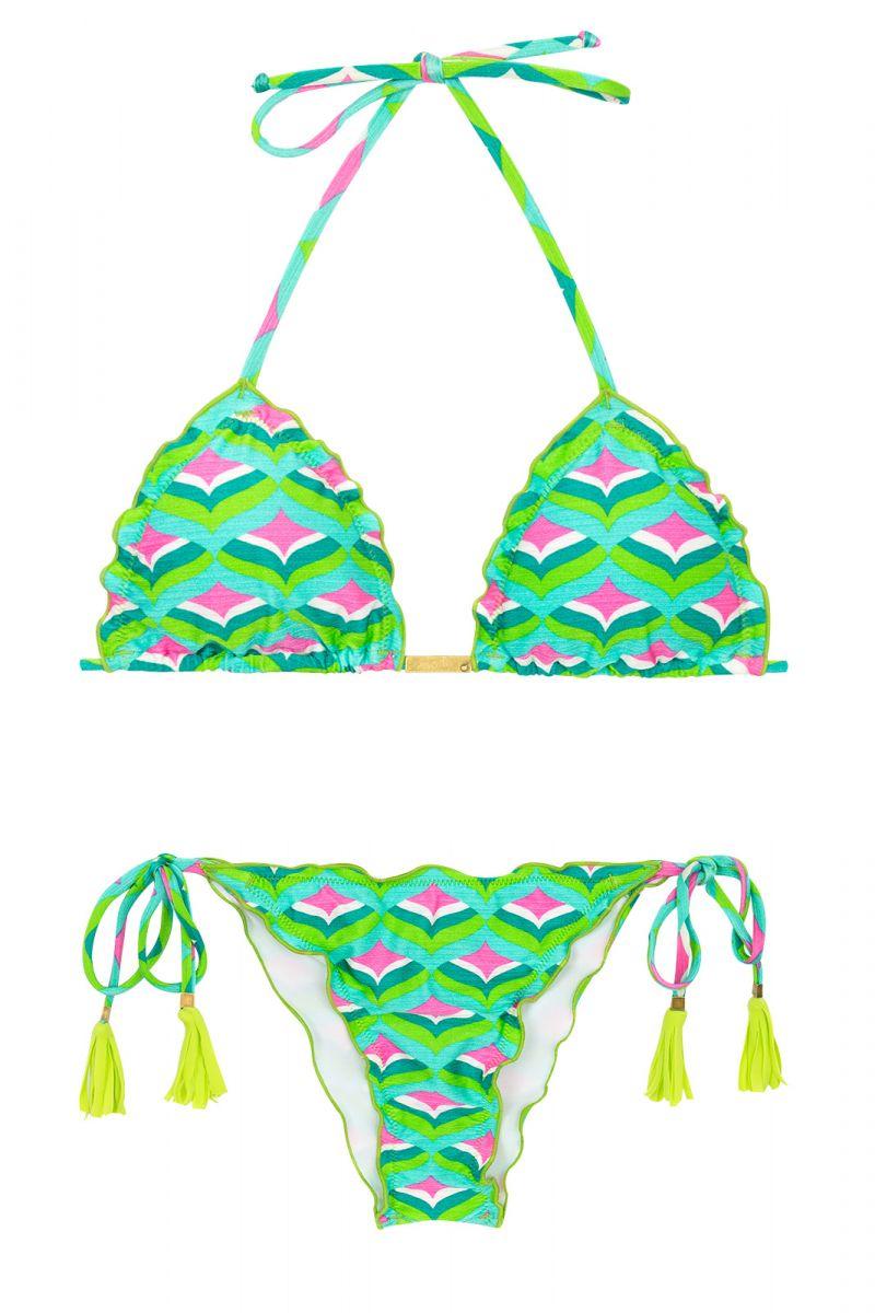Skrynklad bikini med grafiskt tryck - MERMAID FRUFRU