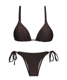 Braun schimmernder Bikini mit Accessoire - METEORITE INVISIBLE