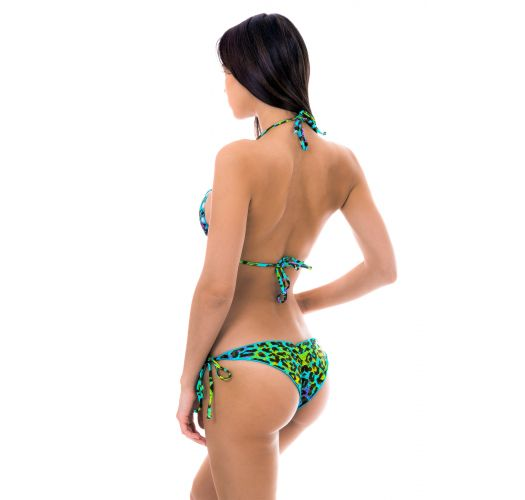 Multicoloured leopard print scrunch Brazilian bikini - MORUMBI FRUFRU