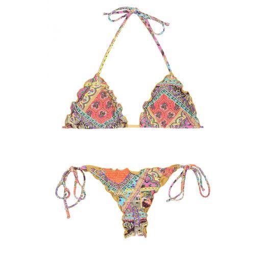Ausgeschnittener Scrunch-Bikini Foulard-Druck - MUNDOMIX FRUFRU MINI