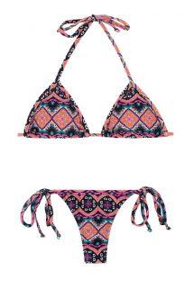 Bikini con perizoma stampa etnica - NEW ETHNIC MICRO