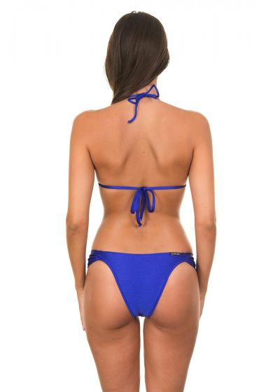 Dark blue satin fabric bikini - ONIX BLUE