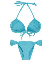 Bikini balconnet push up bleu ciel - ORVALHO BALCONET