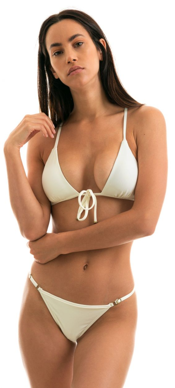 Off-white adjustable string bikini - PEROLA TRI ARG MICRO
