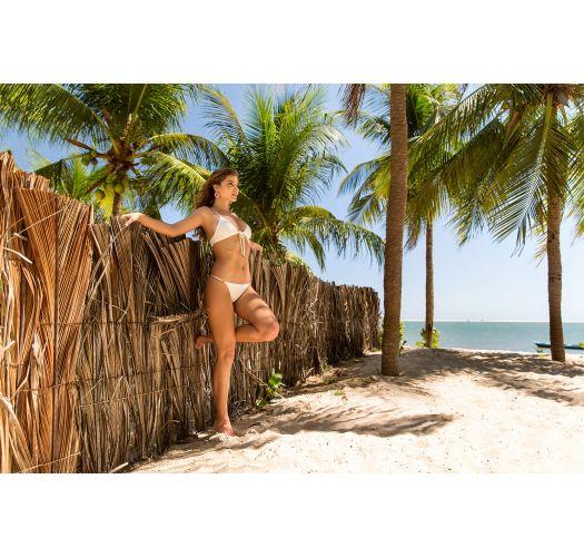 Off-white adjustable string bikini - PEROLA TRI ARG MICRO