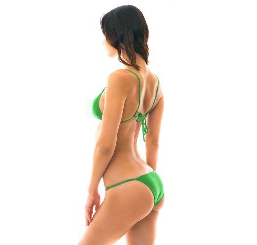 Grön reglerbar brasiliansk bikini med tunna sidoband - PETER PAN ARG FIXO