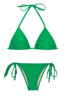 Green side-tie Brazilian bikini - PETER PAN LACINHO