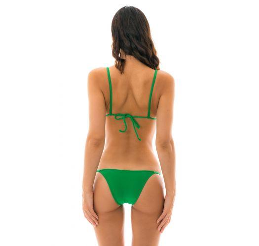 Green side-tie Brazilian bikini - PETER PAN LACINHO