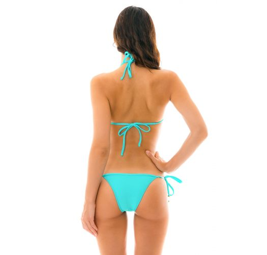 Turquoise side-tie Brazilian bikini - PISCINA TRI
