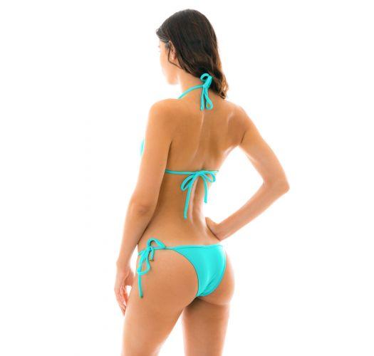 Brasiliansk bikini i cyanblå med tilbehør - PISCINA TRI