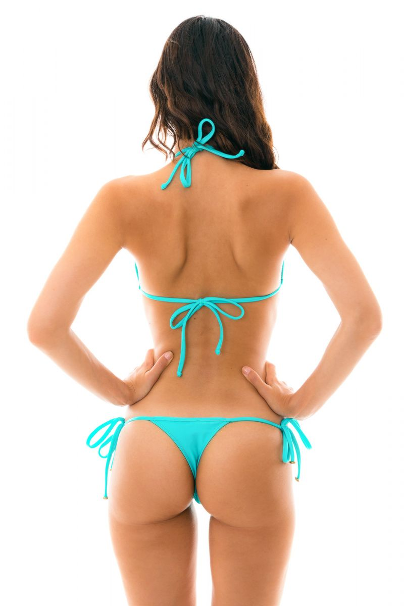 Cyanblå knytbar string bikini - PISCINA TRI MICRO