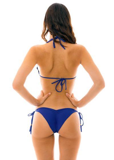 Scrunch bikini with wavy edges - navy blue - PLANET BLUE EVA