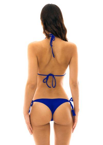String bikini with wavy edges - navy blue - PLANET BLUE EVA MICRO