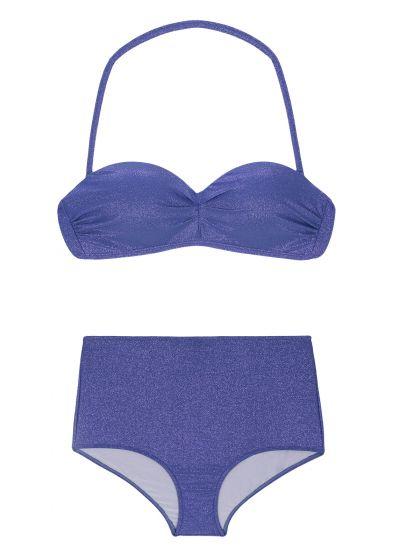 Mörkblå bikini med hög midja - RADIANTE AZUL MARINHO HOT PANT