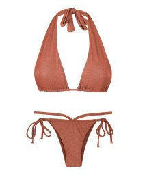 Shimmering multiposition bikini (5 in 1) - cinnamon - RADIANTE CANELA MULTI