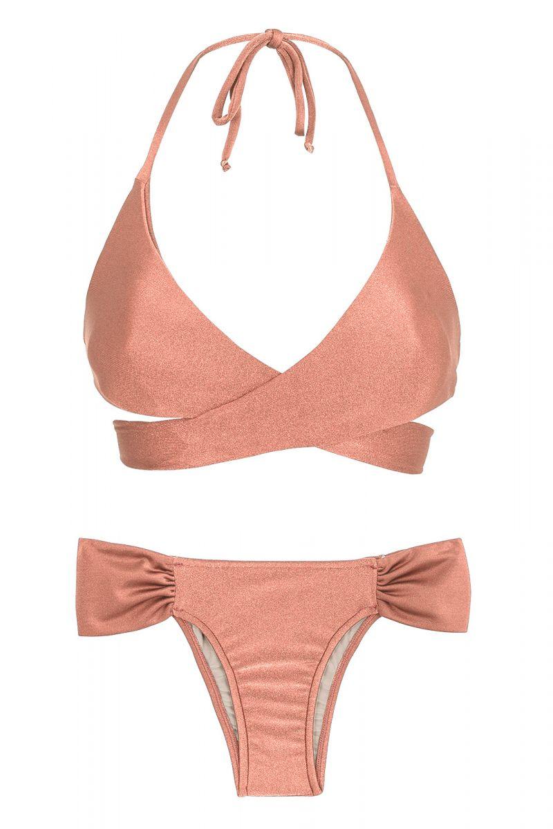 Persiko-pink lindad bikini - ROSE TRANSPASSADO