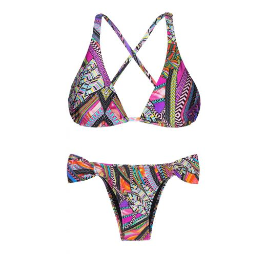 Triangle scarf bikini with surfer-style crossover back - SAMARCANDA COOL