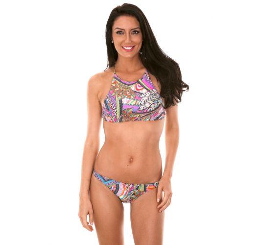 Crop-Top-Bikini mit gekerbter Bikinihose - SAMARCANDA SPORTY