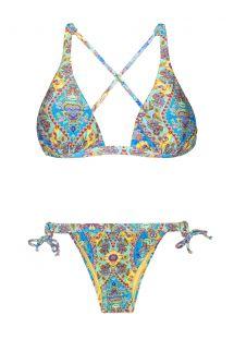 Bikini triangle foulard dos croisé imprimé - SARI COOL LACINHO