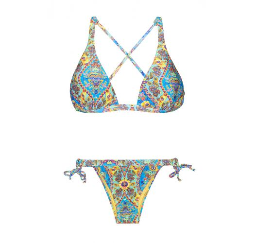 dfeadeae5b Halter Neck Triangle Bikini With Printed Cross Back - Sari Cool Lacinho -  Rio de Sol