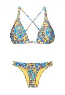 Bikini im Vintage-Stil, Foulard-Druck - SARI COOL NEW