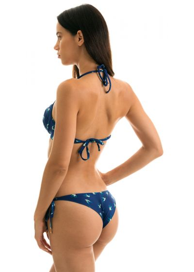 Push-Up-Balconette-Bikini blau, Vogelmotiv - SEABIRD CHEEKY