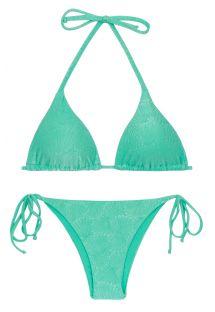 Bikini meergrün geschnürt, Muschelmotiv - SET ATLANTIS TRI-INV IBIZA