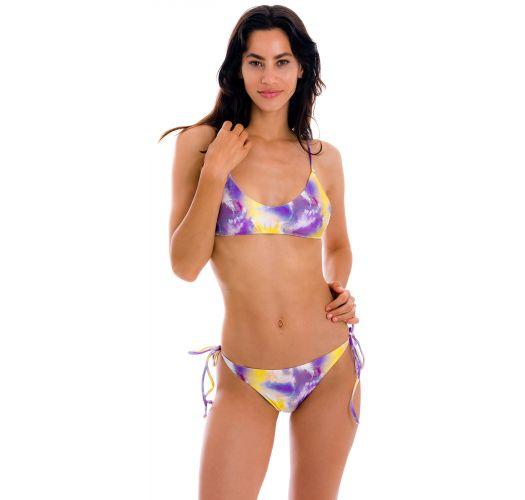 Purple & yellow tie-dye bikini - SET TIEDYE-PURPLE BRALETTE IBIZA-COMFY