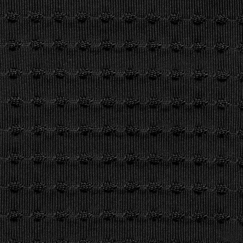 Bikini brassière à nouer devant noir texturé en relief - SET DOTS-BLACK MILA HIGH-LEG