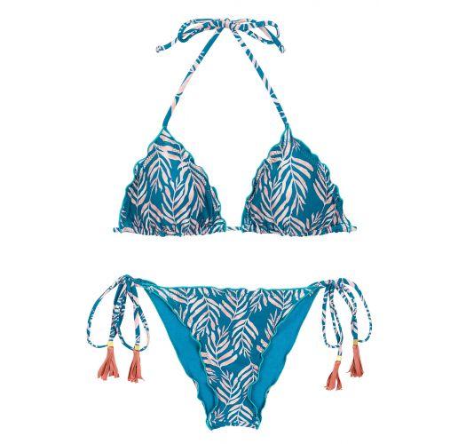 SET PALMS-BLUE TRI FRUFRU