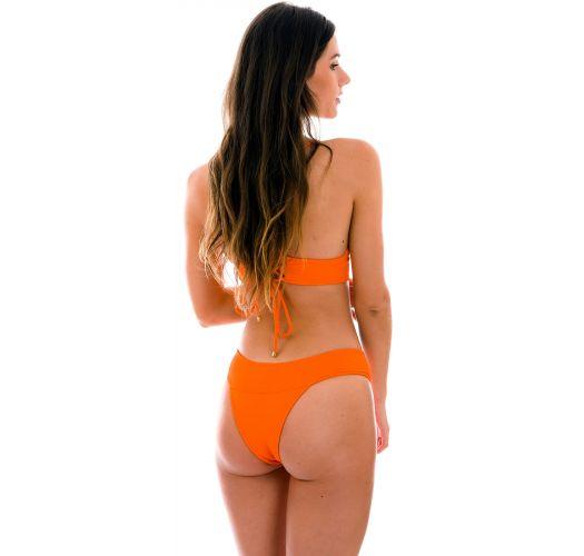 Textured orange crossed bralette bikini - SET ST-TROPEZ-TANGERINA TRI-COS RIO-COS
