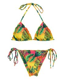 Bikini scrunch tropical multicolore bords ondulés - SET SUN-SATION TRI FRUFRU