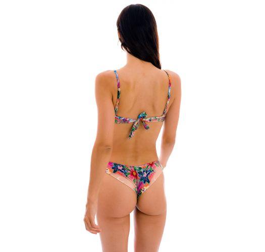 Colorful tropical underwired bralette bikini - SET SUNSET BALCONET-INV NICE