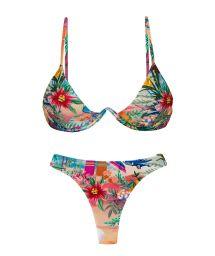 Bikini triangle armature V et string tropical coloré - SET SUNSET TRI-ARO FIO