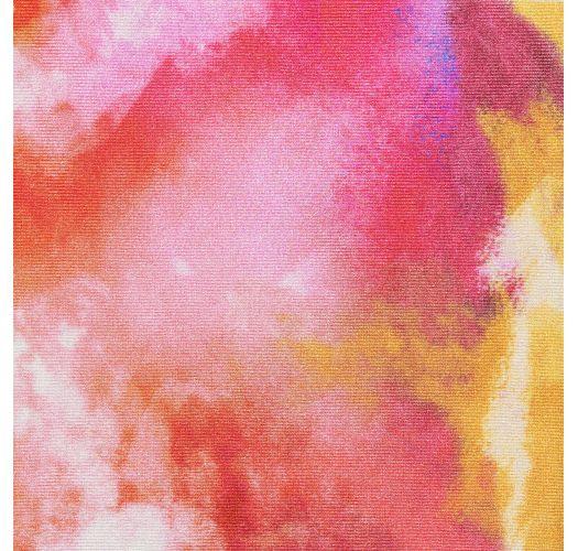 レッド&オレンジのタイダイ柄ビキニ - SET TIEDYE-RED BRALETTE IBIZA-COMFY