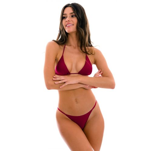 Garnet red cheeky Brazilian bikini with thin sides - SET UV-DESEJO TRI-INV CHEEKY-FIXA