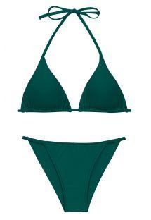 Brazilian Cheeky-Bikini dunkelgrün, schmale Seiten - SET UV-GALAPAGOS TRI-INV CHEEKY-FIXA