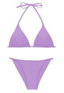 Biquíni brasileiro atrevido em lilás, laterais finas e top triangular - SET UV-HARMONIA TRI-INV CHEEKY-FIXA