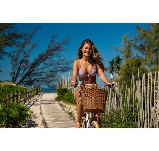 Lilac cheeky Brazilian bikini with slim sides - SET UV-HARMONIA TRI-INV CHEEKY-FIXA