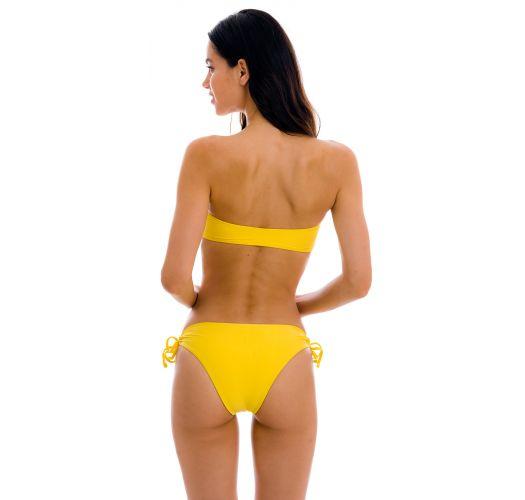 Lilac bandeau pull-on bikini with double side tie bottom - SET UV-MELON BANDEAU-RETO MADRID