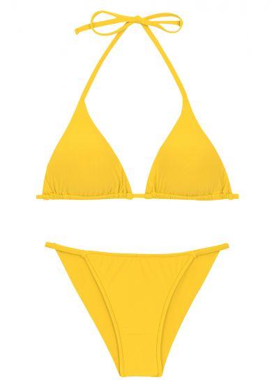 Yellow cheeky Brazilian bikini with slim sides - SET UV-MELON TRI-INV CHEEKY-FIXA