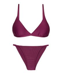Iridescent purple cheeky Brazilian bikini with thin sides - SET VIENA TRI-FIXO CHEEKY-FIXA