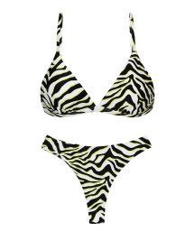 Black & white tiger print thong bikini - SET WILD-BLACK TRI-FIXO FIO