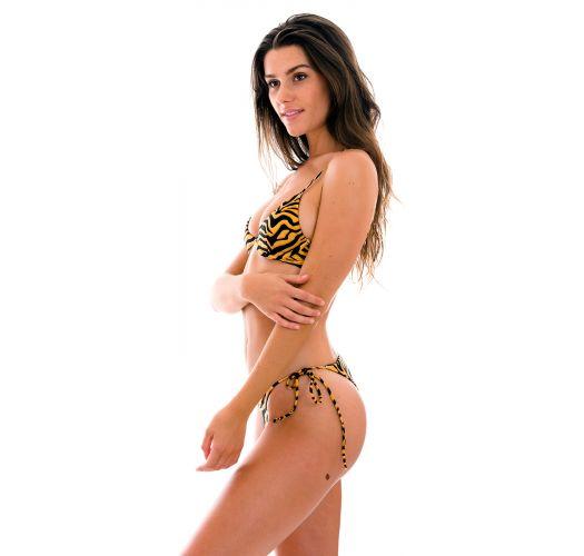 Black & orange tabby V-underwired bikini - SET WILD-ORANGE TRI-ARO IBIZA