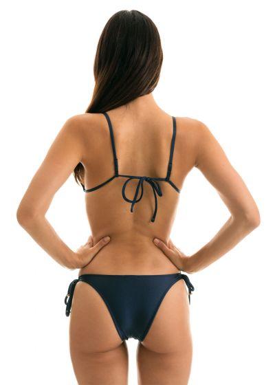 bikini Iridescent navy top with straight straps - SHARK INVISIBLE