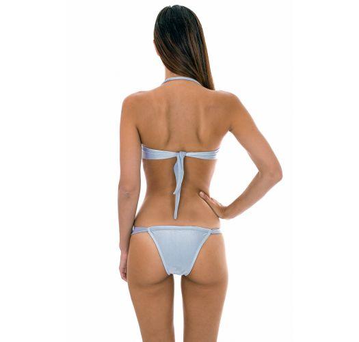 Silver twisted bandeau bikini - SILVER TOMARA QUE CAIA