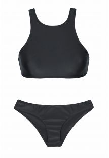 crop top sport black bikini - SPORTY PRETO