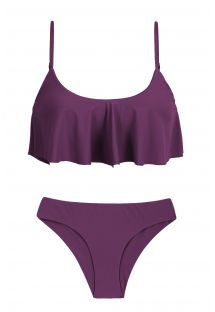 Ruffled plum bikini with adjustable straps - SUBLIME BABADO