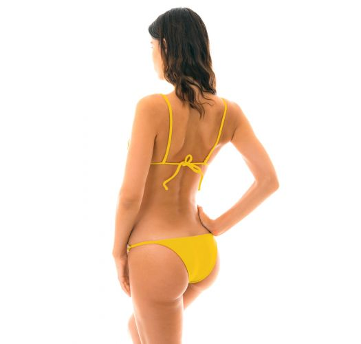 Yellow adjustable Brazilian bikini - TEMPERO ARG FIXO